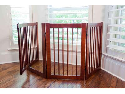 Primetime Petz 360 Convertible Z-Fold Freestanding Pet Gate w/ Door - 33232