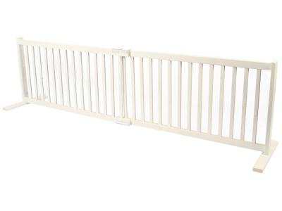 Dynamic Accents All Wood Freestanding Pet Gate Large - Warm White - 42102