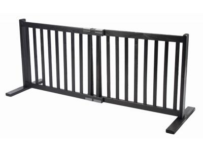 Dynamic Accents All Wood Freestanding Pet Gate Small - Black - 42404