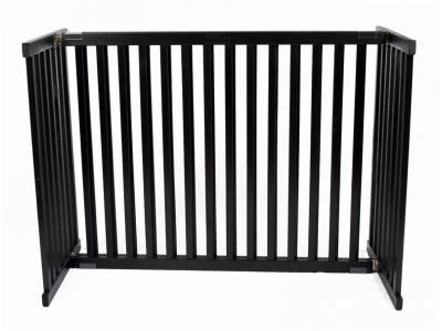 Dynamic Accents Kensington Tall Freestanding Pet Gate Large - Black - 42302