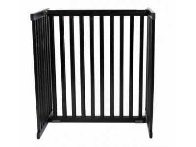 Dynamic Accents Kensington Tall Freestanding Pet Gate Small - Black - 42306