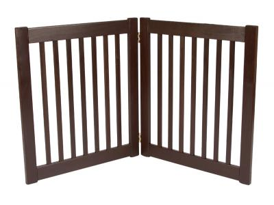 Dynamic Accents 2 Panel 27'' Free Standing EZ Gate - Mahogany - 42220
