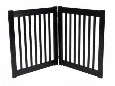 Dynamic Accents 2 Panel 27'' Free Standing EZ Gate - Black - 42420