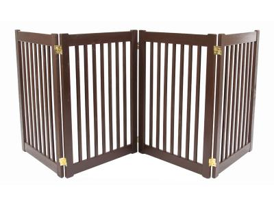 Dynamic Accents 4 Panel 32'' Freestanding EZ Gate - Mahogany - 42223