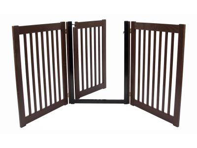 Dynamic Accents 3 Panel Walk-Through EZ Gate - Mahogany - 42224