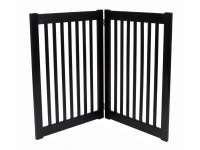Dynamic Accents 2 Panel 32'' Free Standing EZ Gate - Black - 42422