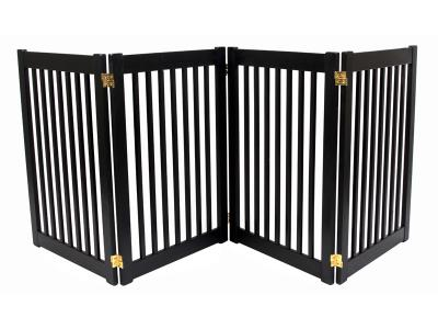 Dynamic Accents 4 Panel 32'' Freestanding EZ Gate - Black - 42423