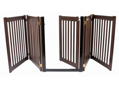 Dynamic Accents 5 Panel Walk-Through EZ Gate - Mahogany - 42225