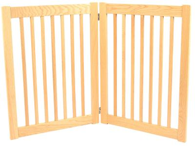 Dynamic Accents 2 Panel 32'' Outdoor Freestanding Pet Gate - White Oak - 52122