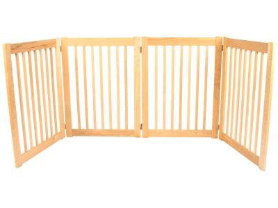 Dynamic Accents 4 Panel 32'' Outdoor Freestanding Pet Gate - White Oak - 52123
