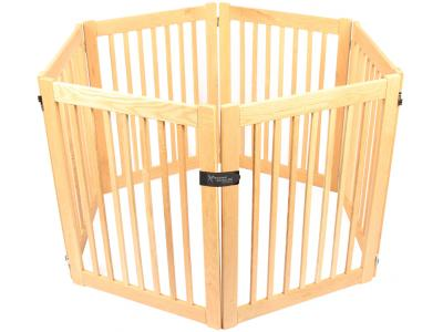 Dynamic Accents 6 Panel 32'' Outdoor Freestanding Pet Gate - White Oak - 52124