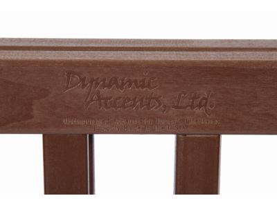 Dynamic Accents 4 Panel 27'' Freestanding EZ Gate - Mahogany - 42221