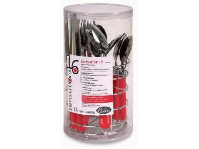 Sensations II 16 pc Plastic Handle Flatware Red - 53529.16  sc 1 st  Sales Innovations & Sensations II 16 pc Plastic Handle Flatware Red | Sales-Innovations ...
