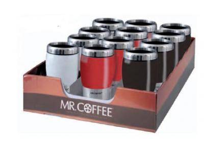 Gibson Mr Coffee Insulated 16 Oz Traverse Travel Mug
