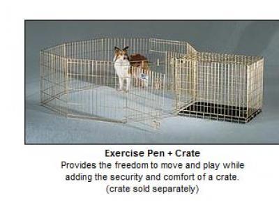 MidWest Gold Zinc Pet Exercise Pen - 30'' - 542-30