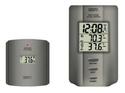 Taylor 91049-1 Multi-Zone Wireless Digital Indoor/Outdoor Thermometer with Radio Controlled Clock - 91049-1