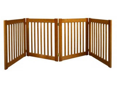 Dynamic Accents 4 Panel 27'' Freestanding EZ Gate - Artisan Bronze - 42621