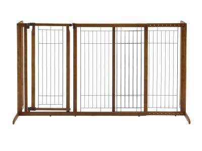 Richell Deluxe Freestanding Pet Gate w/ Door Large - 94190