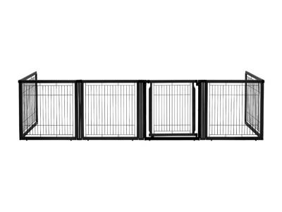 Richell Convertible Elite 6-Panel Pet Gate - Black - 94188