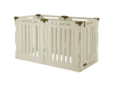 Richell Convertible Indoor/Outdoor 6-Panel Plastic Pet Playpen High (H6)  - 94192