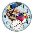 Springfield 14'' Mosaic Beach Scene Clock w/ Thermometer - 92508