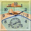 Springfield 14'' x 14'' Poolside Clock & Thermometer - 92530