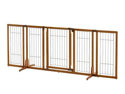 Richell Wide Premium Plus Freestanding Pet Gate w/ Door - 94904