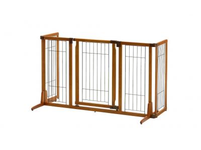 Richell Wide Premium Plus Freestanding Pet Gate w/ Door - 94904