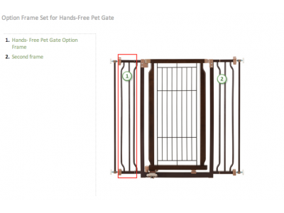 Richell Hands-Free Pet Gate Extension - 94348