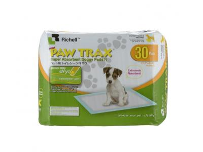 Richell Paw Trax Super Absorbent Doggy Pads 30ct - 94541