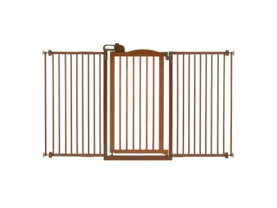 Richell Tall One Touch Pet Gate Ii Wide Autumn Matte