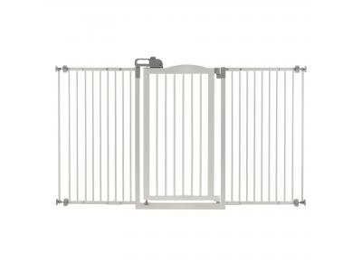 Richell Tall One Touch Pet Gate Ii Wide Origami White