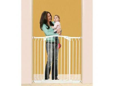 Dream Baby Tall Swinging Gate Combo Pack - (28'' - 42.5'') White - L782W
