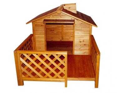 Merry Products MPL002 The Mansion Large Pet House with Porch - MPL002