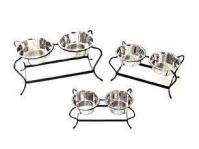 Pets Stop RDB12M Majesty Double Diner Medium - RDB12M
