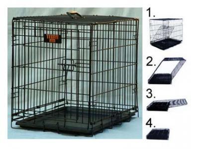 Majestic Pet 30'' Single Door Folding Dog Crate - Medium - 01130