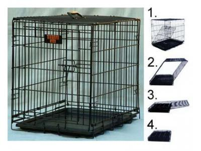 Majestic Pet 36'' Single Door Folding Dog Crate - Medium - 01136