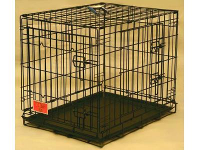 Majestic Pet 30'' Double Door Folding Dog Crate - Medium - 01230