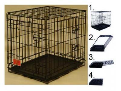 Majestic Pet 48'' Double Door Folding Dog Crate - X-Large - 01248