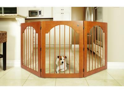 Majestic Pet Freestanding Pet Gate Cherry Sales