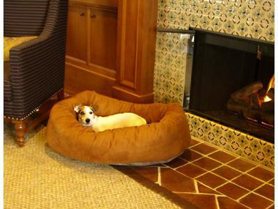Majestic Pet 32'' Suede Bagel Bed - Medium - BB7332