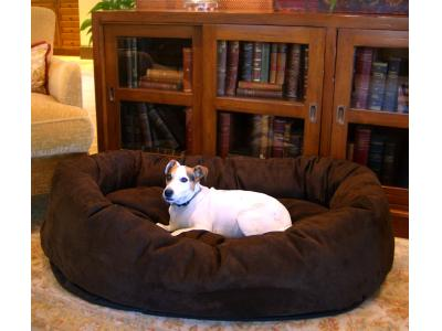 Majestic Pet 52'' Suede Bagel Bed - X-Large - BB7552