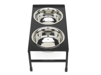 Pets Stop Tray Top Double Diner - Medium - RDB14M